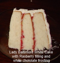 Lady Baltimore White Cake with Raspberry Filling and White ...